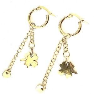 Earrings gold chain clover - d819a7704b699021da500ddcadaa02309488b55c 500x500