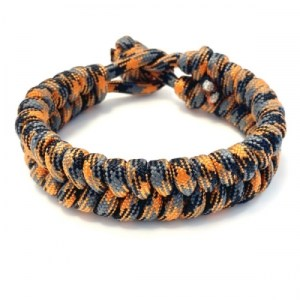 Mens bracelet braided paracord black / gray / orange - 3bd9faa9de2ead9955a8cb814bcd8514da01be59 500x500