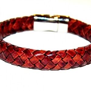 Mens bracelet braided leather burgundy - 3700cc68b23155a0f13393e79e1a1d2ec520d0e5 500x500