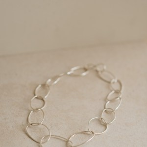 Statement Link Necklace - Chunky silver link necklace 2 500x500