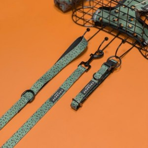 Khaki Leopard Collar