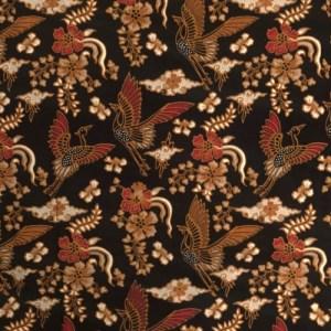 Bobo Headband Indonesian Batik Cotton Upcycling – Color Simelu Black