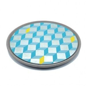 Cubes Mirror – Grey