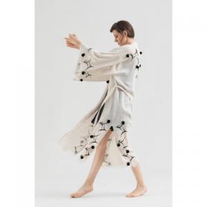 Linen Pompom Kimono