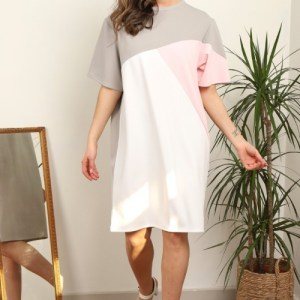 Plus Size Pink T shirt Dress ( Pack of 6)