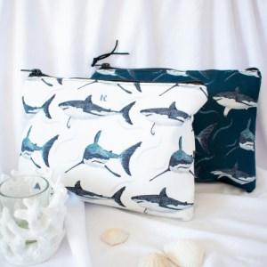 Shark Pattern Pouch