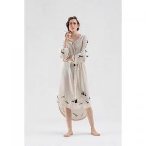 Linen Long Sleeve Dress