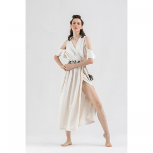 Linen Wrap Maxi Dress