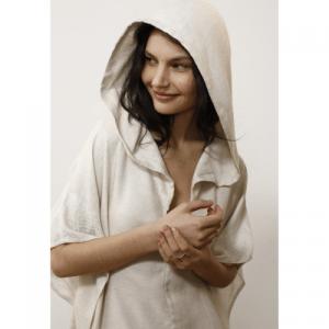 Linen Hooded Dress