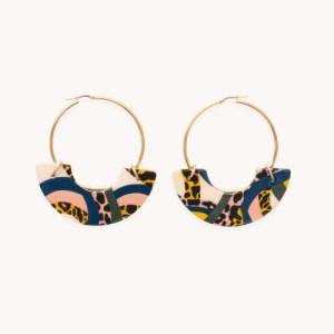 Amazonico Lola Hoop Ceramic Earrings