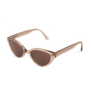 Margaret Transparent Sunglasses – Brown Lenses