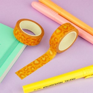 Orange Leopard Print Washi Tape