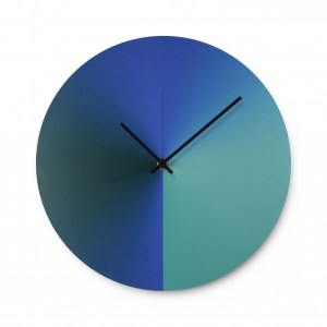 Time Fade Wall Clock – Blue