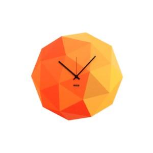 Yellow Timeshape Wall Clock