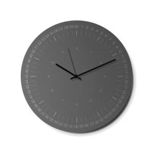 Hoop Wall Clock – Grey
