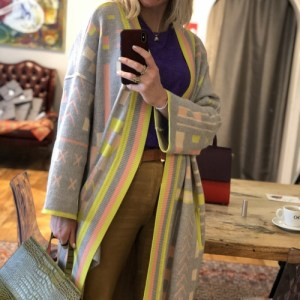 Kimono Knitted Grey and Yellow
