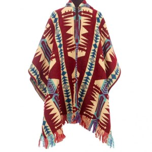 PONCHO MEN RED – COMFORTABLE & WARM
