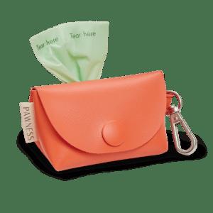 Vegan Leather Poop bag holder Bo – Coral