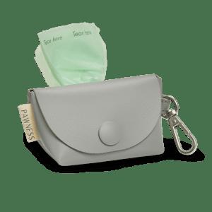 Vegan Leather Poop bag holder Bo – Grey