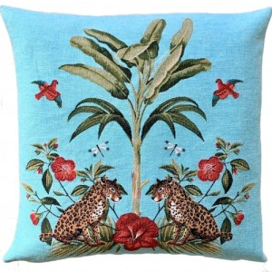decorative pillow cover palmtree cougars