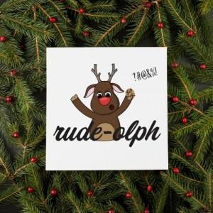 Rude-olph Christmas Card