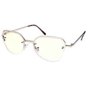 Blue Light Reading Glasses – B-FLY in Light Gold frame – BlueShields