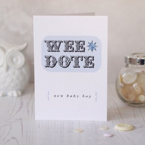 Wee Dote New Baby Boy Card