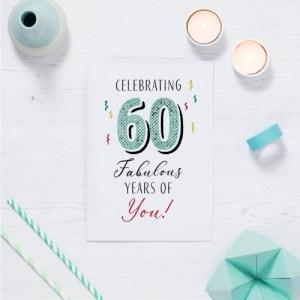 60 Fabulous Years Birthday Cards