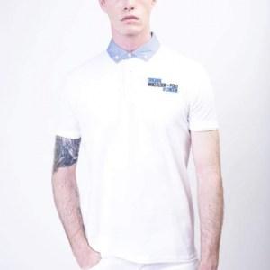Wakerlook Polo shirt with denim collar