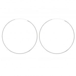 Classic 1.5mm diameter sterling silver hoop.