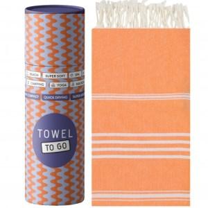 Towel to Go Ipanema Hammam Towel with present box orange TTGIPTR - TTGIPTR 500x500