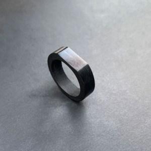 Dappe Black Slate Unisex Ring