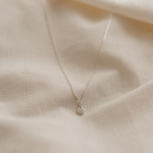 Zero Waste Pebble Necklace (Silver) - silver zero waste necklace 500x500