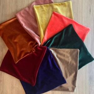Pocket squares in velvet