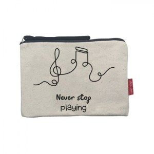 """Cosmetic Bag """"Never stop playing"""""""