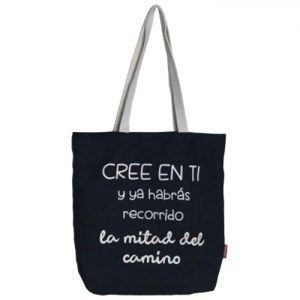 """Tote bag """"Believe in yourself, and you've already gone half the way"""""""