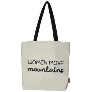 "Tote bag ""Women move mountains"""