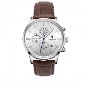The Magnificent – Silver Brown Leather Edition Watch