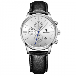 The Magnificent – Silver Leather Edition Watch