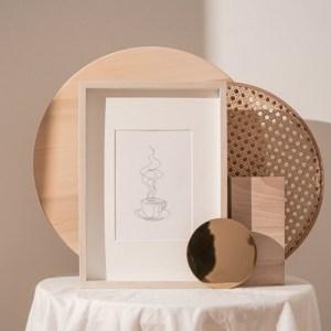 Minimal Coffee Print, Coffee Prints, Coffee Wall Art, Minimal Wall Art, Simple Line Drawing, Line Art Print, Coffee Poster