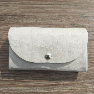 Sustainable Mini Coin Purse, Handmade With Washable Paper, Small Coin Purse – Stone