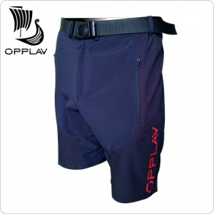 OPPLAV Niflheim Black nautical shorts, for experienced sailors, combine technical fabrics. Our highest range. 2 pockets and belt.