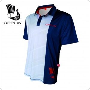 Opplav Niflheim Mens Polo shirt. Very technical, made of fast drying polyester. Flat seams 5 threads. High performance garment.(White)