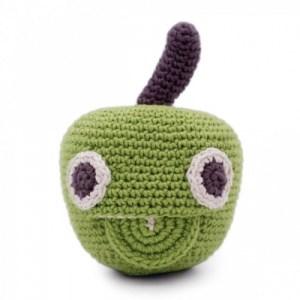 Newton Apple – Baby Rattle 100% Organic Coton