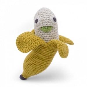 Barbara Banana – Baby Rattle 100% Organic Coton