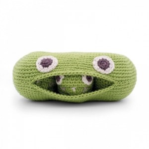 The Green Peas Familly – Baby Rattle 100% Organic Coton