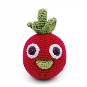 Thomas Tomato – Baby Rattle 100% Organic Coton