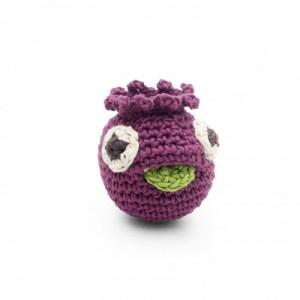 Mimi Mini Blueberry – Baby Rattle 100% Organic Coton