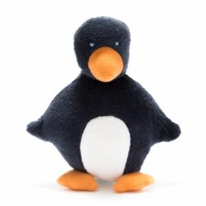 Organic, fair trade Penguin Baby Toy with Orange Feet and Beak Toy