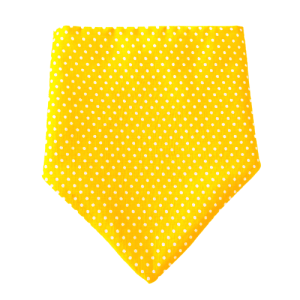 Dotty For You Collection – Sunshine Yellow Dog Bandana